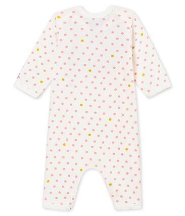 Baby girl's footless sleepsuit and bib