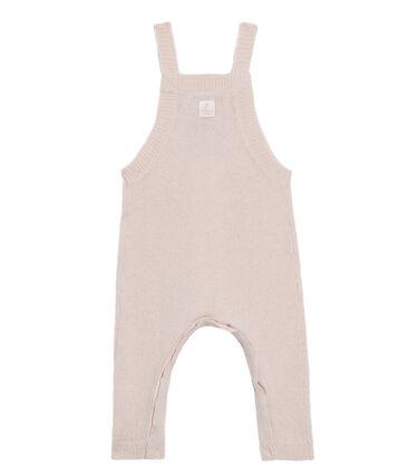 Baby Boys' Long Dungarees in Wool/Nylon/Alpaca Knit