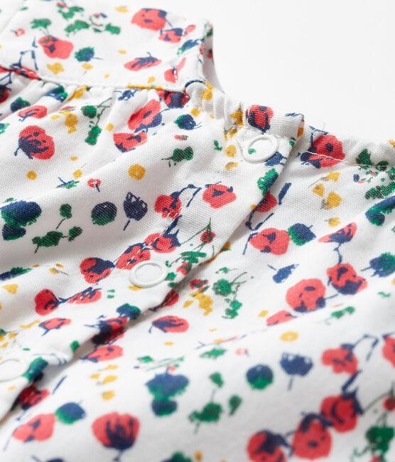Baby Girls' Long-Sleeved Print Blouse Marshmallow white / Multico white