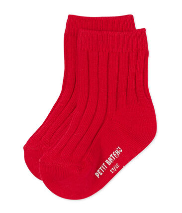 Baby's unisex socks Froufrou red