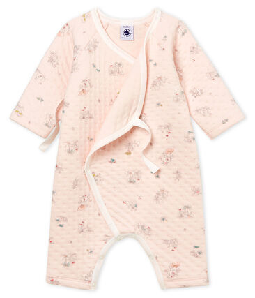 Baby Girls' Tube Knit Sleepsuit Vienne pink / Fontaine blue