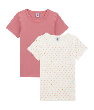 Little girl's short sleeved tee-shirtduo