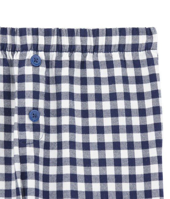 Boys' Pyjama Bottoms Lait white / Medieval blue