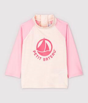 Babies' Unisex UV-Proof Eco-Friendly T-Shirt Minois pink / Marshmallow white