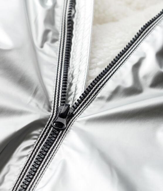 Unisex baby's warm waxed coat Argent grey