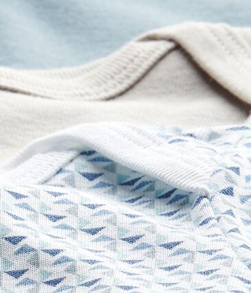 Set of 3 baby boys' short-sleeved bodysuits