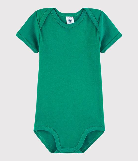 Baby Boys' Short-Sleeved Bodysuit Ecology green