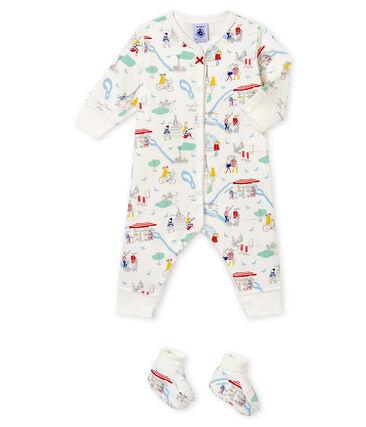 Baby girl's pyjama and booties set
