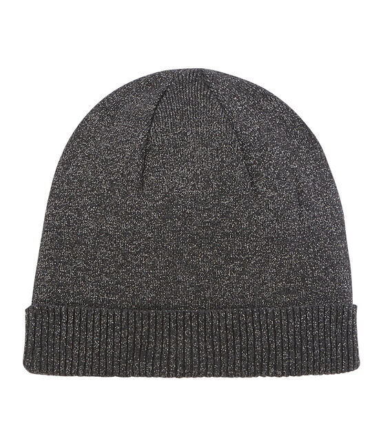 Women's Shiny Wool Hat City black / Argent grey