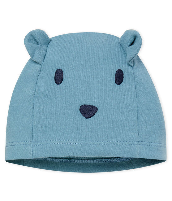 Unisex Babies' Bonnet in Elastane Fleece Fontaine blue