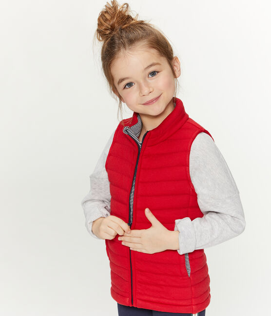 Unisex Children's Sleeveless Jacket Terkuit red