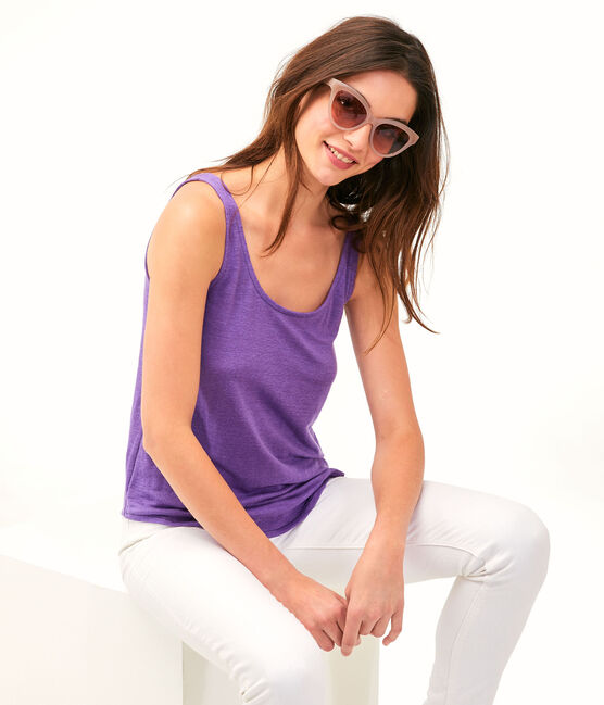 Women's Linen Vest Real purple