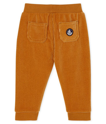Baby Boys' Ribbed Velour Knit Trousers Cuivre brown
