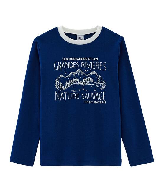 Boys' T-Shirt Limoges blue