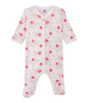 Baby girl's floral print sleepsuit