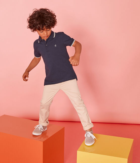 Boys' Short-sleeved Polo Shirt SMOKING