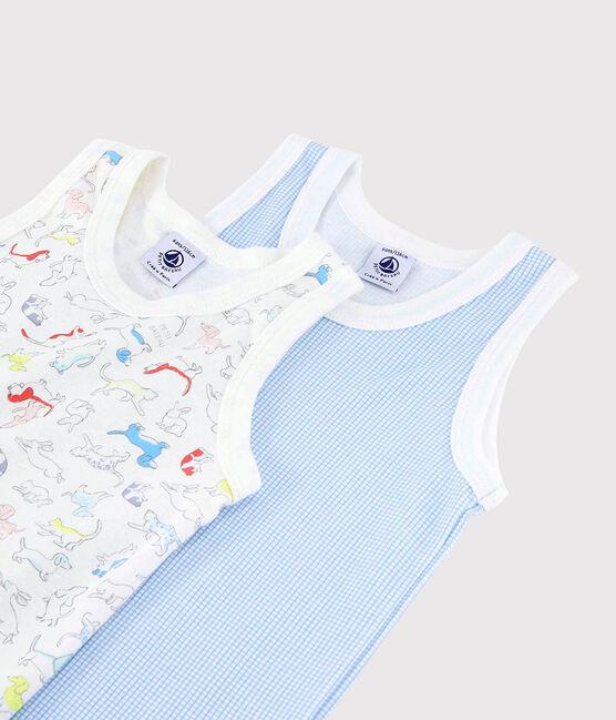 Boys' Animal Print Organic Cotton Vests - 2-Pack . set