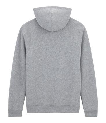 Unisex sweatshirt in flocked fleece for adults Subway grey