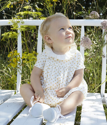 Baby Girls' Clothing - 2-Piece Set Marshmallow white / Or yellow