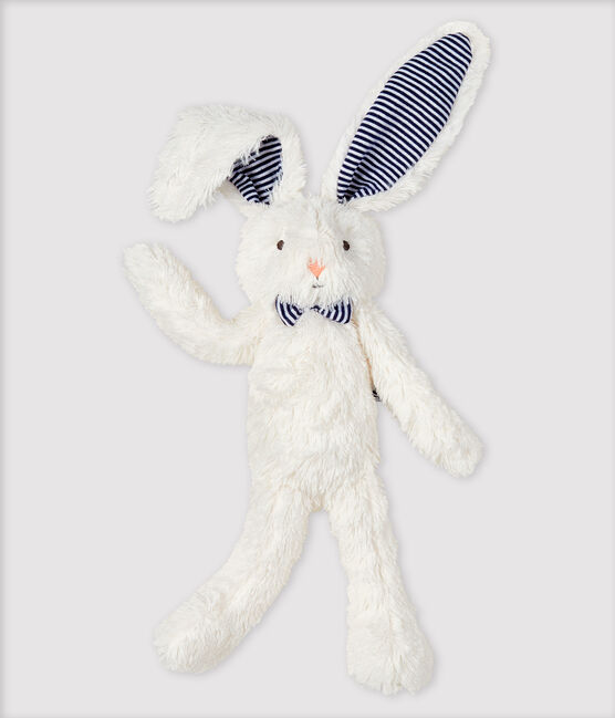 Sherpa Bunny with Bow Tie Marshmallow white