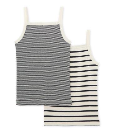 Little girl's strap vest duo . set