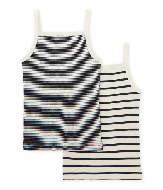Little girl's strap vest duo . set