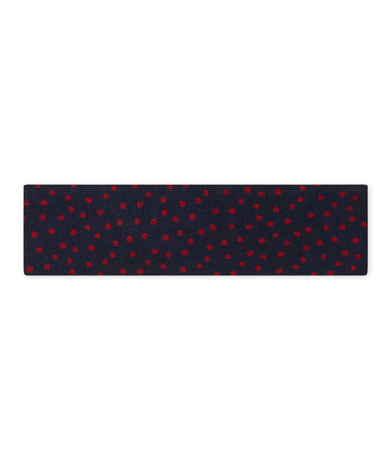 Girl's headband with bow Smoking blue / Terkuit red
