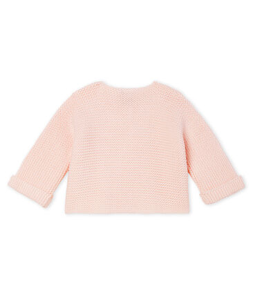Babies' Cardigan Made Of 100% Cotton Knit Fleur pink