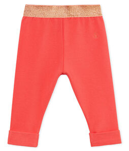Baby girls' plain light jersey trousers