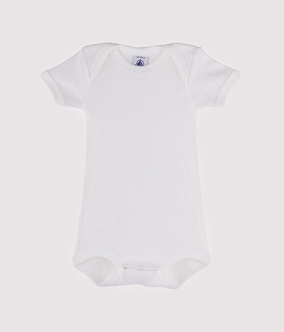 Baby Girls' Short-Sleeved Bodysuit Ecume white