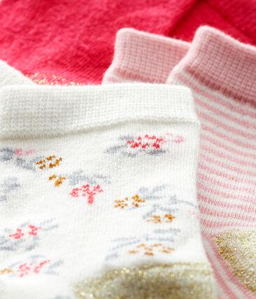 Baby Girls' Socks - 3-Piece Set Charme pink