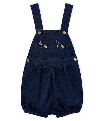 Baby girls' short dungarees