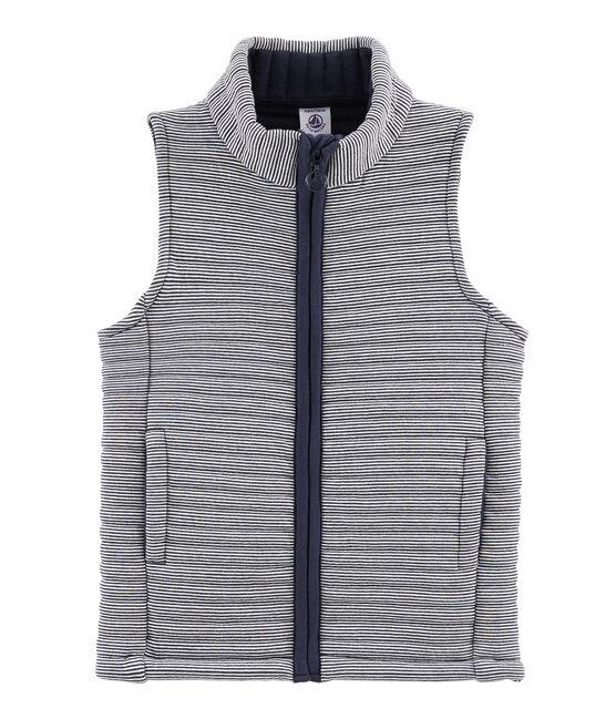 Unisex Sleeveless Jacket Smoking blue / Lait white