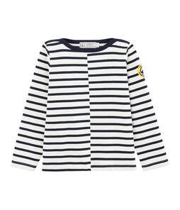 Children's Sailor Top Marshmallow white / Smoking blue