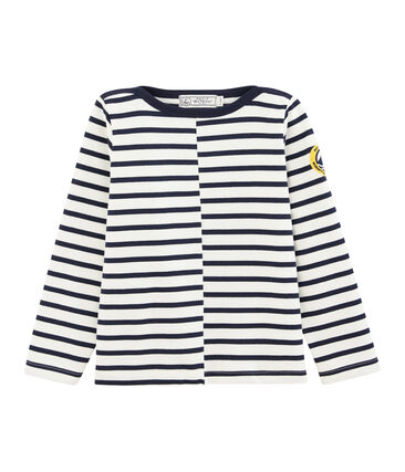 Children's Sailor Top Marshmallow white / Smoking blue