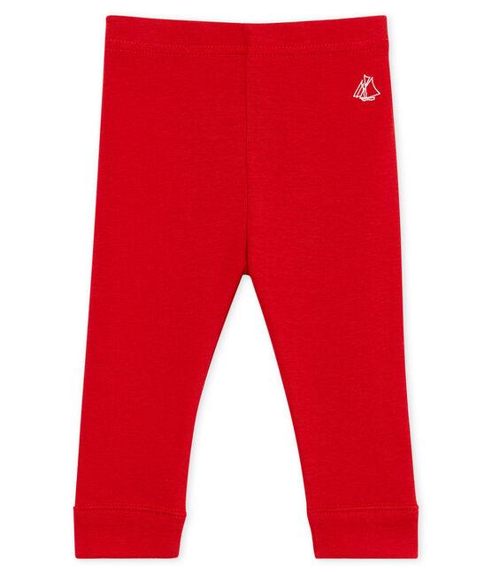 Baby girls' plain leggings Terkuit red