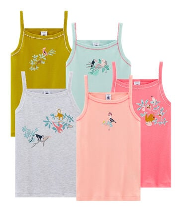 Girls' strap vest - Set of 5
