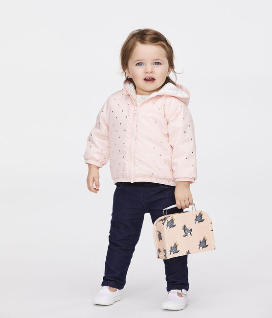Unisex Baby's Fleece-Lined Jacket Minois pink / Or yellow