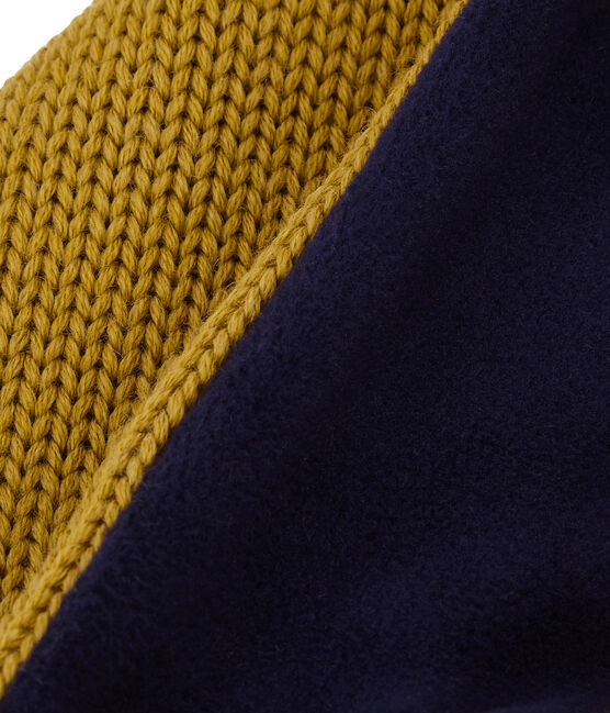 Child's lined knit snood Inca yellow