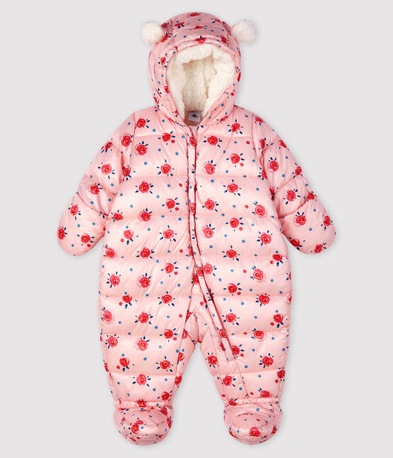 Baby's unisex 3-in-1 snowsuit Minois pink / Multico white