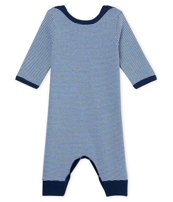 Baby Boys' Footless Sleepsuit Major blue / Marshmallow white