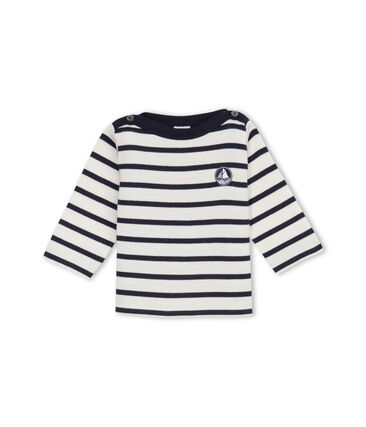 Unisex Baby's Iconic Sailor Top Coquille beige / Abysse blue