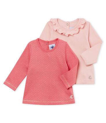 Set of 2 baby girl's blouses