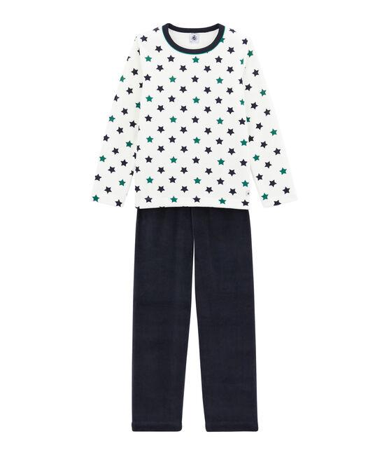 Little boy's pyjamas Smoking blue / Multico white
