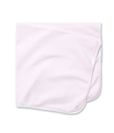 Baby's milleraies striped sheets Vienne pink / Ecume white