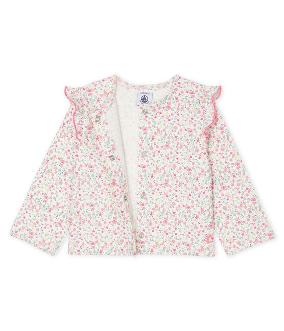 Baby Girls' Light Print Cardigan Marshmallow white / Multico white
