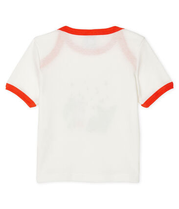 Short-sleeved T-shirt for baby boys Marshmallow white