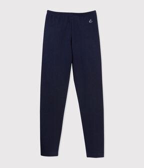 Girls' Lycra Jersey Leggings Smoking blue