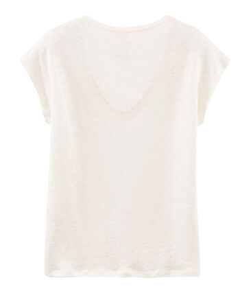 Women's iridescent linen short-sleeved t-shirt