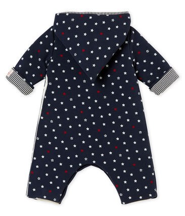 Baby boy star print long all-in-one